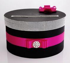 wedding card box - black