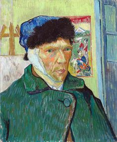 Self Portrait with Bandaged Ear by Vincent van Gogh The Courtauld Gallery      Date painted: 1889