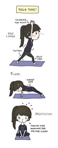 Yoga Time  (yoga fun, humour & laughter) .... #yogafun #yogacartoon #yogahumour #yoga #om #yogahumor
