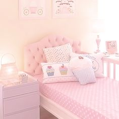 Pretty Shabby Chic Kids Bedroom Ideas For Girls Cute Bedroom Ideas, Girl Bedroom Designs, Bedroom For Girls Kids, Kids Rooms, Unicorn Room Decor, Kawaii Bedroom, Pastel Room, Pastel Pink, Pink Bedrooms