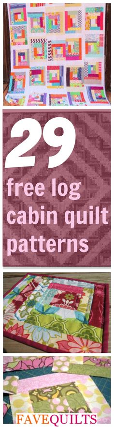 29 Free Log Cabin Qu