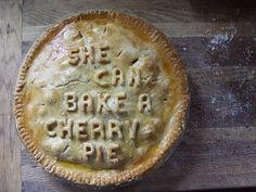 put words on your pie crust