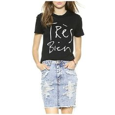 Black Funny Words Print Short Sleeve Tee (€17) ❤ liked on Polyvore featuring tops, t-shirts, graphic t shirts, short sleeve tee, short sleeve graphic tees, graphic print t shirts and graphic tops