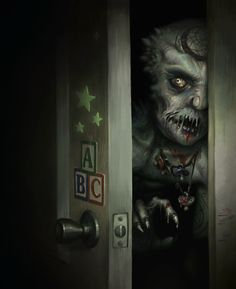 Monster in the closet dark fantasy, fantasy art, creepy stuff, scary things, Dark Fantasy, Fantasy Art, Creepy Art, Creepy Stuff, Scary Things, Creepy Clown, Random Stuff, Scary Monsters, Wolf