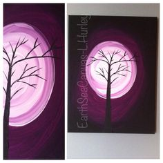 tree,moon,purple,canvas Canvas Art By Lindsay Hurley www.earthseadesigns.webs.com/ www.facebook.com/earthseadesigns Purple Canvas, Canvas Canvas, Canvas Designs, Hurley, Tapestry, Moon, Facebook, Artist, Hanging Tapestry