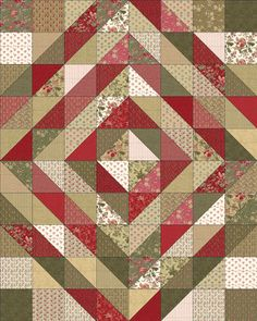 72 X 90 Quilt  2 Layer Cakes*  1/3 yd dark fabric*  1/3 yd light fabric*  1/2 yd for binding  5 1/4 yds for backing
