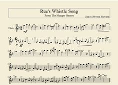 Rue's Whistle Song-- Flute Arrangement by flutepiccy.deviantart.com on @deviantART