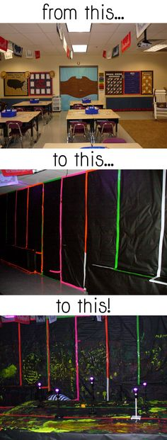 Transform Your Classroom to a Black Light Room!