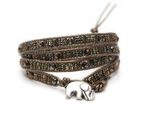 Kenya Elephant Multi-Wrap Bracelet - Handmade Bracelets