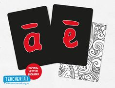 Te Reo Maori Alphabet Cards Teaching Aids, Teaching Resources, Alphabet Cards, Maori Art, Learning Toys, Early Childhood Education, Social Work, Activities, Classroom Ideas