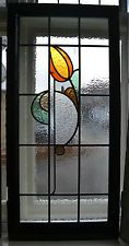 Art deco British leaded light stained glass window. R466. WORLDWIDE DELIVERY!!!