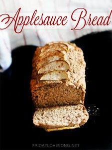 Whole Wheat Applesauce Bread - fridaylovesong.net