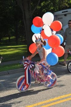 Bike decoration for our neighborhood 4th of July parade:
