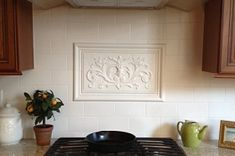 Floral vw 2 Decorative Tile Backsplash, Stove Backsplash, A Wrinkle In Time, Family Activities, Vw, Kitchen Cabinets, Ceramics, Floral, Decorating