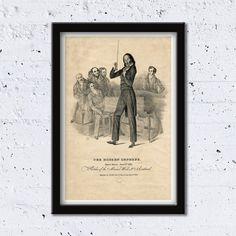 1831 The Modern Orpheus // Sketches of the Musical World // High Quality Fine Art Reproduction Giclée Print // Vintage Poster / Canvas by WiredWizardWeb on Etsy