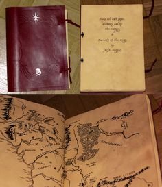 The red book of westmarch Lord of the Rings and  The Hobbit.
