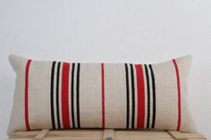 21x10 Striped Pattern Bright Cream Red Black by AreaRugsKilims