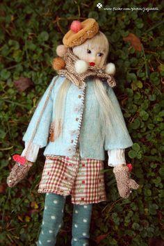 jiajiadoll light blue laced coat-for momoko or misaki or Blythe