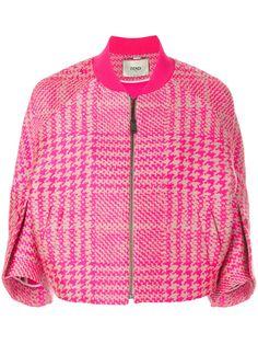 Fendi Куртка-бомбер в Клетку - Farfetch. Клетчатая КурткаРозовый Пиджак Куртки ... f3887f44bb7e6