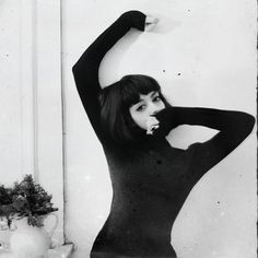 """by Rimel Neffati. Short black bob with bangs. This style is so freaking versatile-- it looks """"done"""" with little to no styling, but it can be styled as anything from Sabrina-era Audrey Hepburn to Lydia Deetz (Beetlejuice) to Beth Ditto to Amélie."""