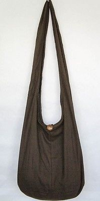 BROWN Sling Shoulder Crossbody HOBO BAG HIPPIE PURSE YAAM MONK HOT NEW UNISEX