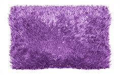 "Rock Your Room Mongolian Faux Fur Pillow, 20 x 26"", Purple"