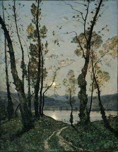 peira:  fleurdulys: Henri-Joseph Harpignies: Moonlight (1889)