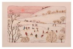 Children playing in the snow - Lucy Grossmith