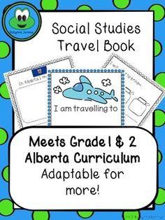 This booklet is designed to match the Alberta grade 1 and 2 curriculum, but can be modified for any grade/area. It includes: - A colour and b&Ww title page - What to pack on a trip - What you might see in various locations with a blank page to fill in your Back To School Activities, School Fun, School Resources, School Ideas, Grade 2, First Grade, Teaching Social Studies, New Class, New Teachers