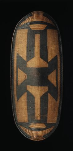 Zande or a closely related group  Shield, 20th century  Wood and woven vegetable fiber