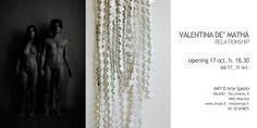 VALENTINA DE MATHIA', inviti e banner per la mostra a Milano