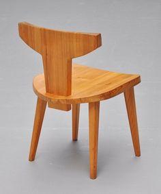 Jacob Kielland-Brandt; Pine Side Chair for I. Christiansen, c1960 .