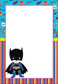 Free printable Batman invitations, cards or labels.