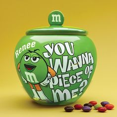Send M&M Candy Jars from Personal Creations. M M Cookies, Galletas Cookies, Candy Cookies, Biscuit Cookies, Cute Cookies, M M Candy, Candy Jars, Candy Dishes, Candy Craze