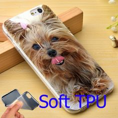 Yorkshire Terrier Puppy Dog Soft TPU Phone Case for iPhone 7 6 6S Plus 4 4S 5C 5 SE 5S Cover
