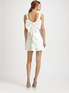 Valentino - Cotton Bow Dress - #bow #dress