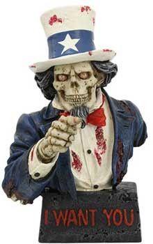 "7 1/2"" Skull Uncle Sam"