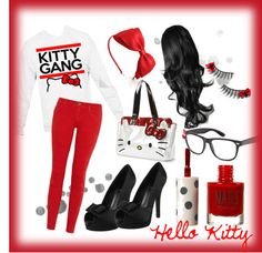 """Kitty Gang"" by w0keupdead on Polyvore"