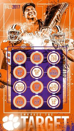 CLEMSON 2017 Football schedule #ALLIN