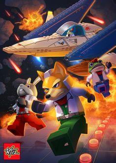LEGO: Starfox by *WesTalbott on deviantART