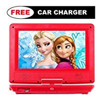 portable dvd player for car plane bus more car charger 10