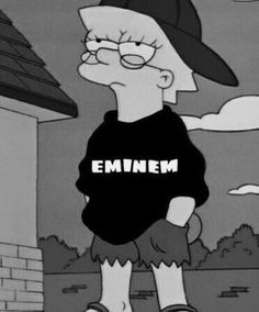 Image de eminem, lisa, and lisa simpson Eminem Wallpaper Iphone, Eminem Wallpapers, Wallpaper Art, Eminem Funny, Eminem Rap, Eminem Memes, Eminem Music, Lisa Simpson, Marshall Eminem