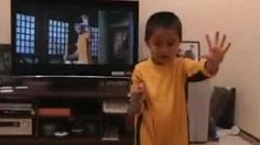 my son 5 years old bruce lee - YouTube
