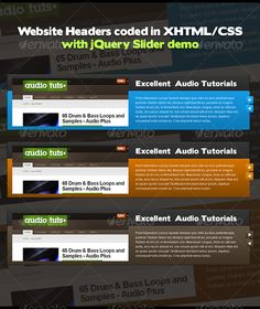 website headers designed and coded in htmlcss httpgraphicriver