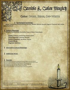 Candle ivory beige off white