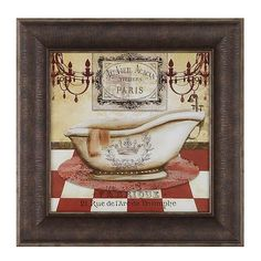 Red French Bath II Framed Art Print | Kirklands