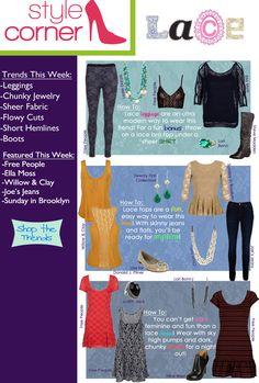 Style Corner - Lace - August 3 - 10 #VonMaur