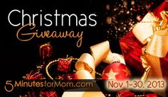 Christmas Giveaway 2013 - New Giveaways Listed Daily in November --> some great picts from the gals at @Susan & Janice (5 Minutes For Mom)
