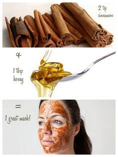 honey cinnamon mask= only 2 ingredients. Great for clearing skin, detoxification, and bringing oxygen to the skin.