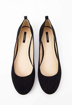 Round Toe Ballet Flats | FOREVER 21 - 2000099716  Size 6... I think